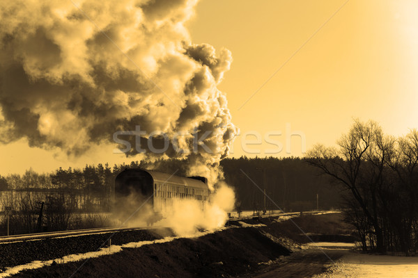Old retro steam train Stock photo © remik44992