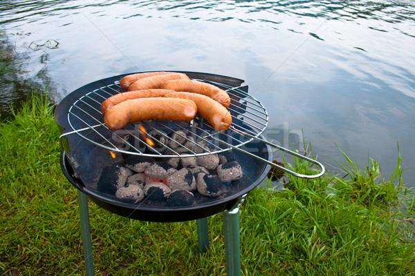 Допрос лет уик-энд свежие колбаса гриль Сток-фото © remik44992