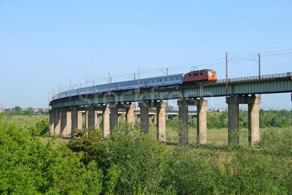 Intercity train on the estacade Stock photo © remik44992