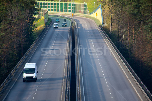 Autópálya légifelvétel csúcsforgalom forgalom út utazás Stock fotó © remik44992