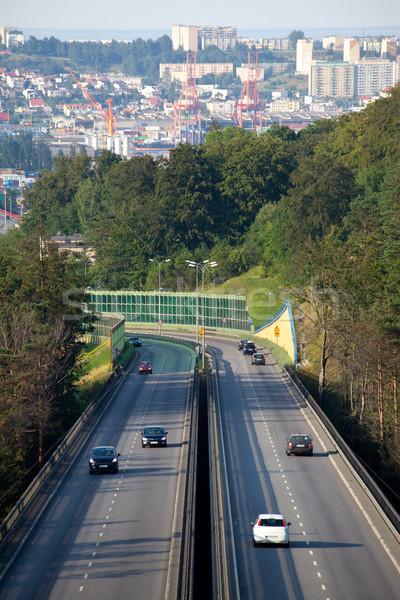 Auto-estrada hora do rush tráfego estrada viajar Foto stock © remik44992
