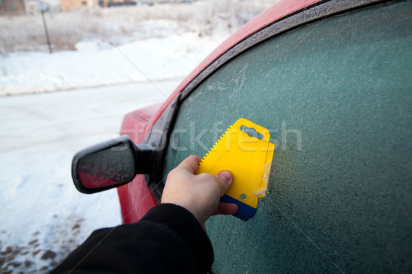Frozen car deicing Stock photo © remik44992