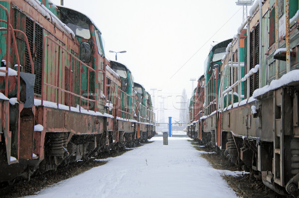 Trains in the depot Stock photo © remik44992