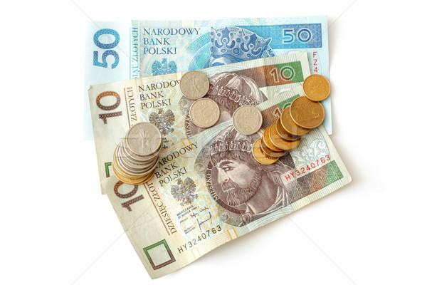 деньги изолированный белый металл Финансы банка Сток-фото © remik44992