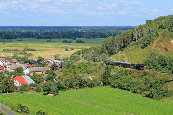 пейзаж пар поезд красивой старые ретро Сток-фото © remik44992