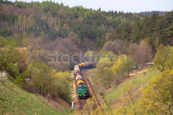 ディーゼル 列車 色 タンク 写真 風景 ストックフォト © remik44992