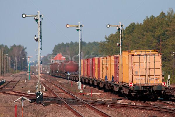 Mixed freight train Stock photo © remik44992