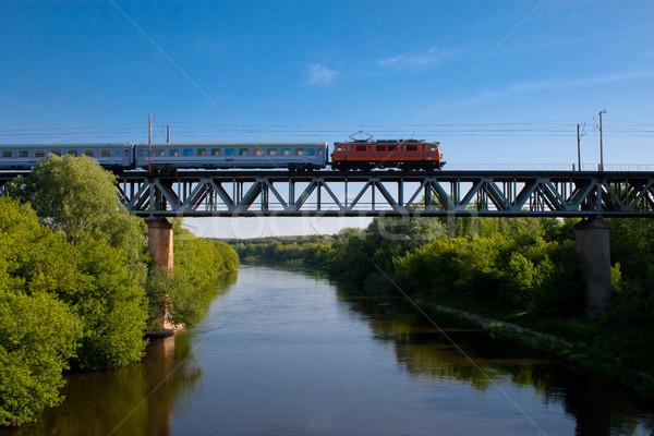 Train on the bridge Stock photo © remik44992