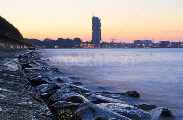 Stony sea coastline Stock photo © remik44992