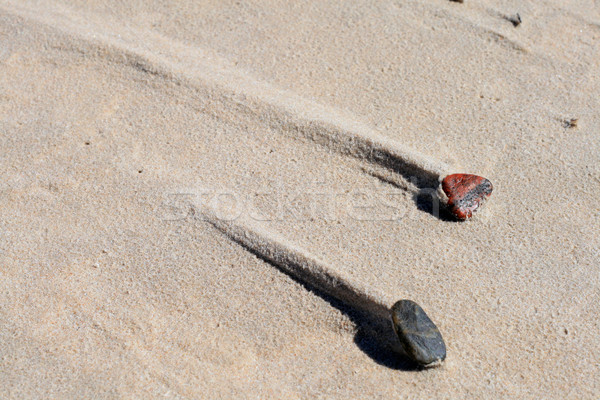 два камней пляж песок тропе за Сток-фото © remik44992