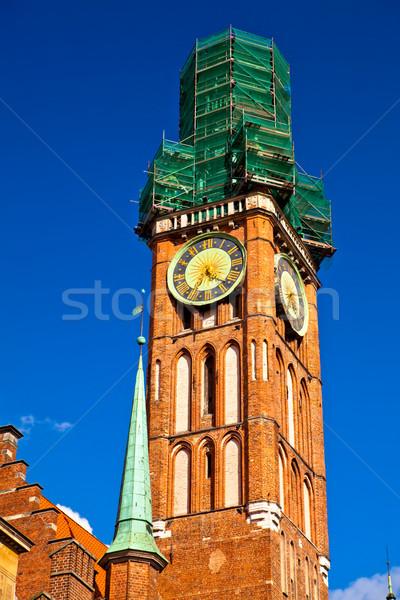Città vecchia danzica Polonia edifici centro cielo Foto d'archivio © remik44992