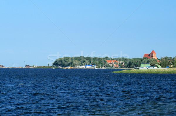 Türkiz víz Balti-tenger Lengyelország marina öreg Stock fotó © remik44992