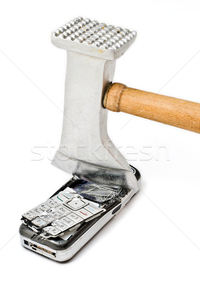 Smashed mobile phone Stock photo © remik44992