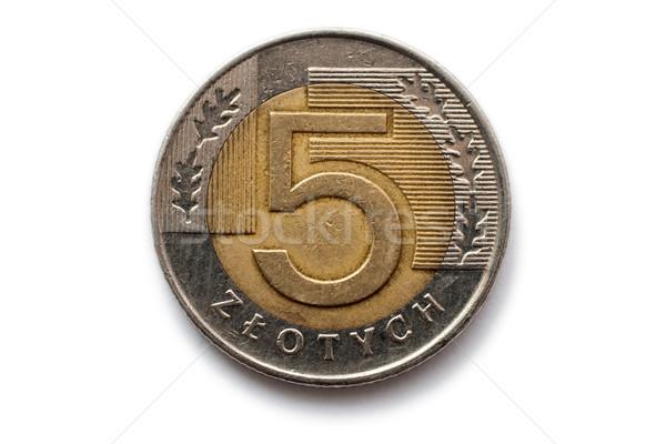 Munt macro business geld financiële Stockfoto © remik44992