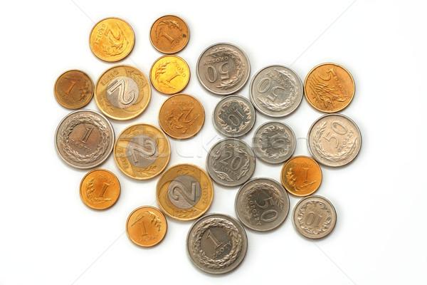 монетами изолированный белый деньги Финансы рынке Сток-фото © remik44992