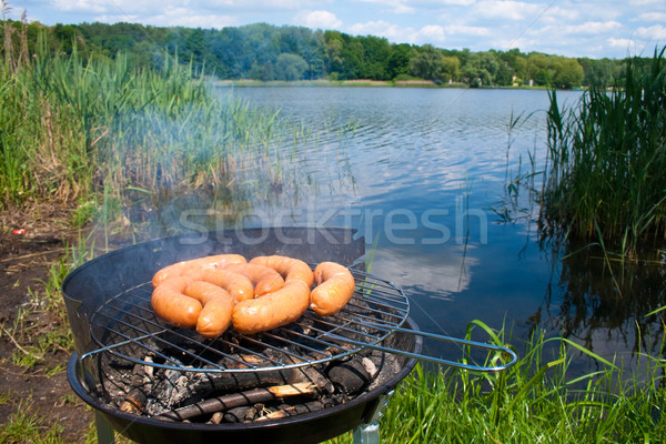 Grilling at summer weekend Stock photo © remik44992
