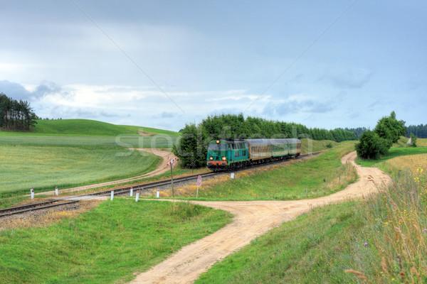 Trem natureza paisagem verão serviço fotografia Foto stock © remik44992