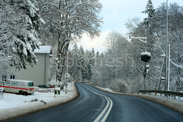 Road in winter forest Stock photo © remik44992