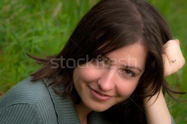 Mooie jonge vrouw gezicht portret Stockfoto © remik44992