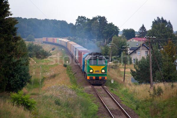 дизельный поезд природы фотографии декораций груза Сток-фото © remik44992