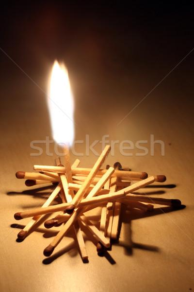 Burning match Stock photo © remik44992