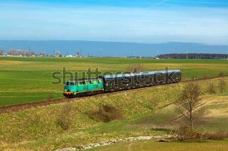 Diesel trem natureza paisagem cor tanque Foto stock © remik44992