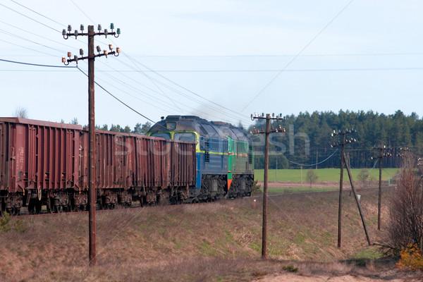Diesel treno due natura estate industria Foto d'archivio © remik44992