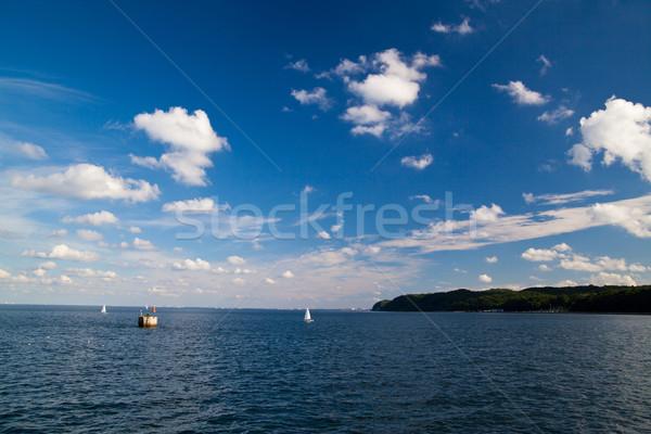 Kust zee luchtfoto oostzee Polen water Stockfoto © remik44992