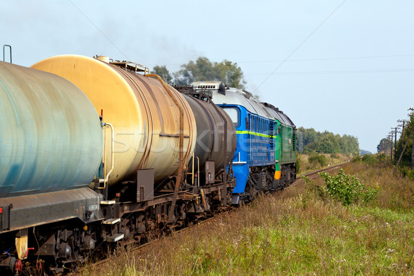 Diesel train réservoir photographie paysages fret Photo stock © remik44992
