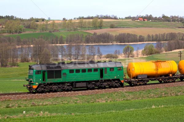 дизельный поезд цистерна фотографии декораций топлива Сток-фото © remik44992