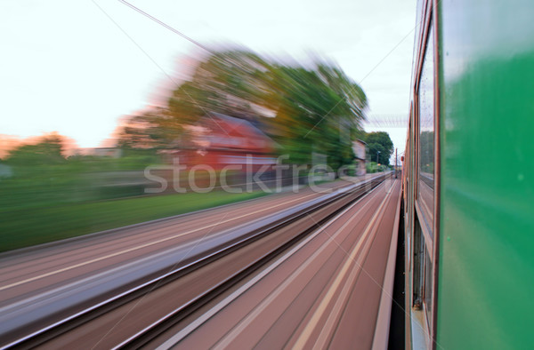 View from the window of speeding train Stock photo © remik44992