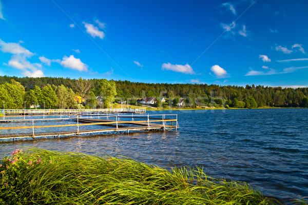 ストックフォト: 風景 · 湖 · 夏 · 森林 · 自然 · 緑