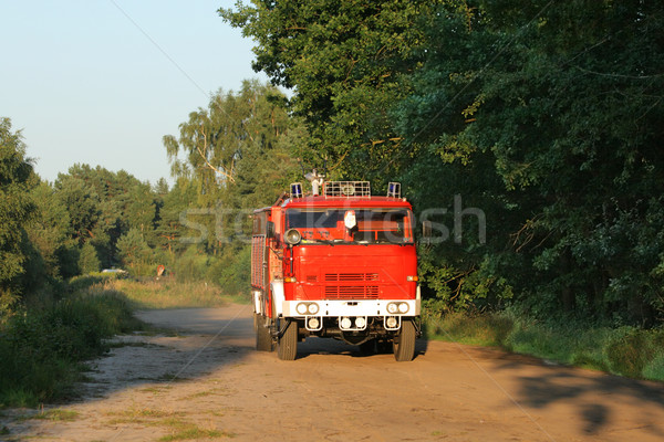 Red fire engine Stock photo © remik44992