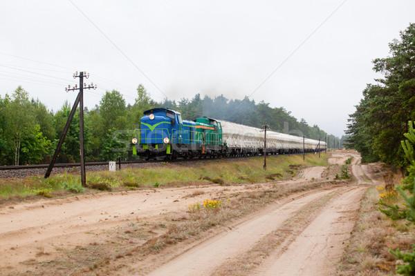 Diesel train nature paysage couleur réservoir Photo stock © remik44992