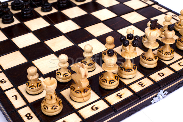 шахматам шахматная доска играть черный игры царя Сток-фото © remik44992