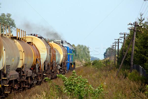 Сток-фото: дизельный · поезд · цистерна · фотографии · декораций · груза