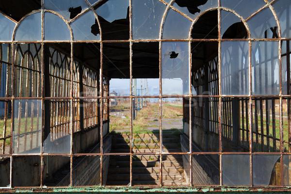 Stock photo: Abandoned railway station