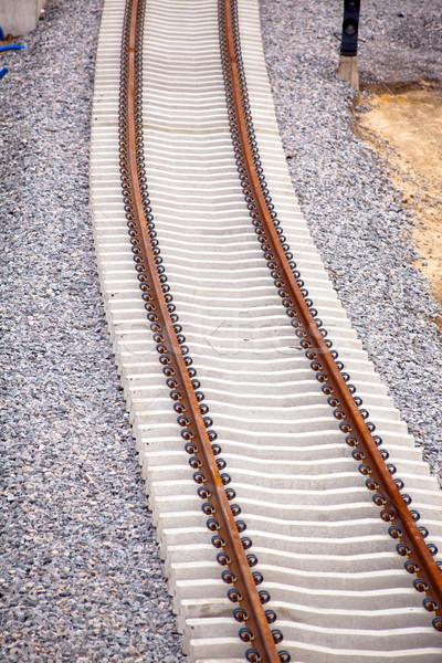 Stock photo: Railway track