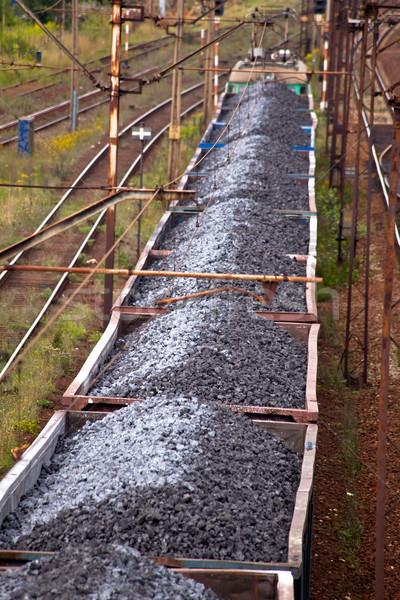 поезд уголь бизнеса автомобилей черный цвета Сток-фото © remik44992