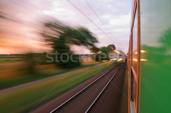 表示 ウィンドウ 列車 2 列車 ストックフォト © remik44992