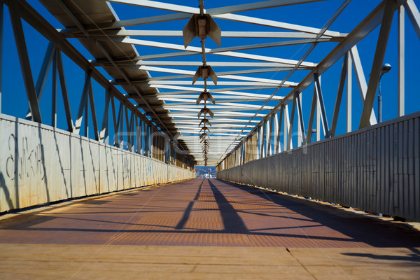 Stock photo: Steel bridge