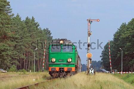 поездов дизельный локомотив свет лет красный Сток-фото © remik44992