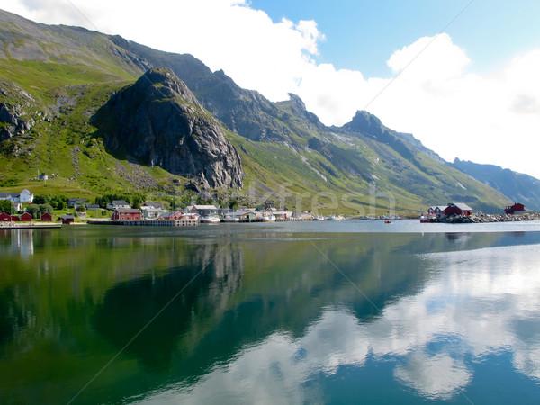 Норвегия пейзаж живописный пляж природы Сток-фото © remik44992
