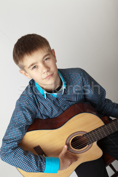 Young musician Stock photo © restyler
