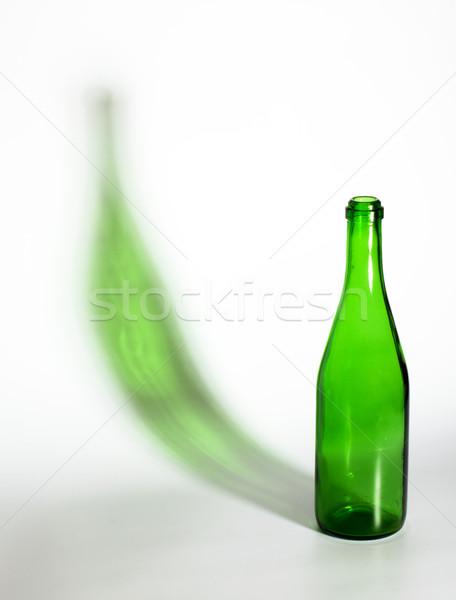 Açmak boş şampanya şişe yeşil gölge Stok fotoğraf © restyler
