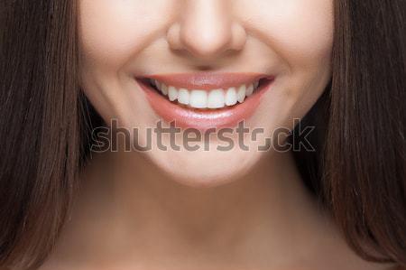 女性の笑顔 歯の手入れ 美人 笑顔 顔 ストックフォト © restyler
