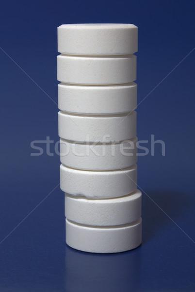 Beyaz karanlık mavi sağlık renk Stok fotoğraf © restyler