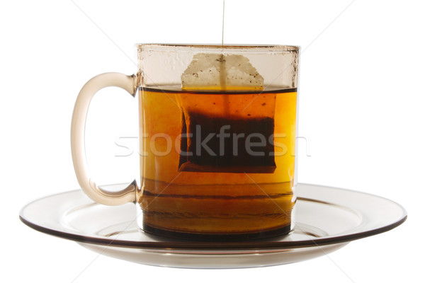Glass of Tea with Bag End Stock photo © restyler