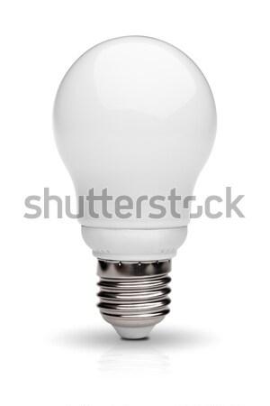 Enerji ampul yalıtılmış beyaz Stok fotoğraf © restyler