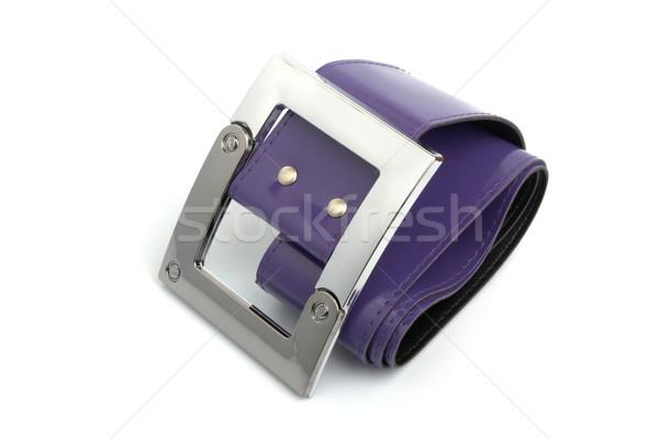 Fibbia cintura metal viola isolato bianco Foto d'archivio © restyler